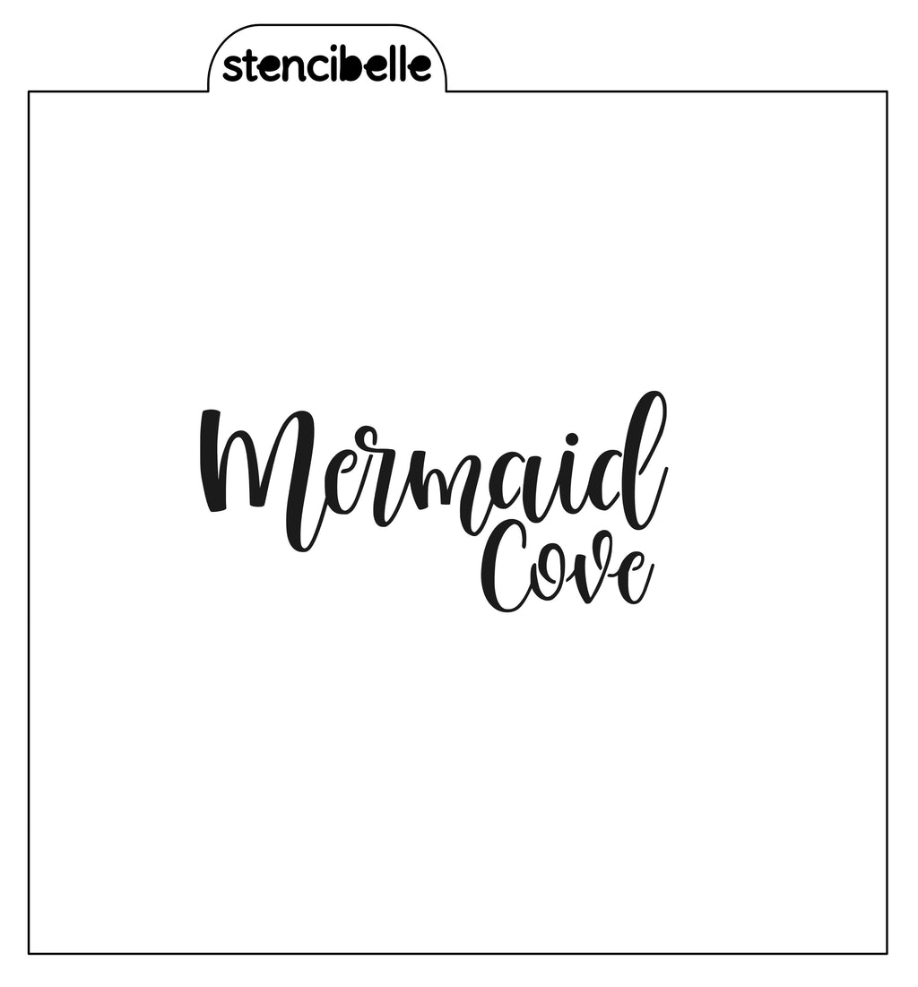 Mermaid Cove Stencil - 2 sizes available