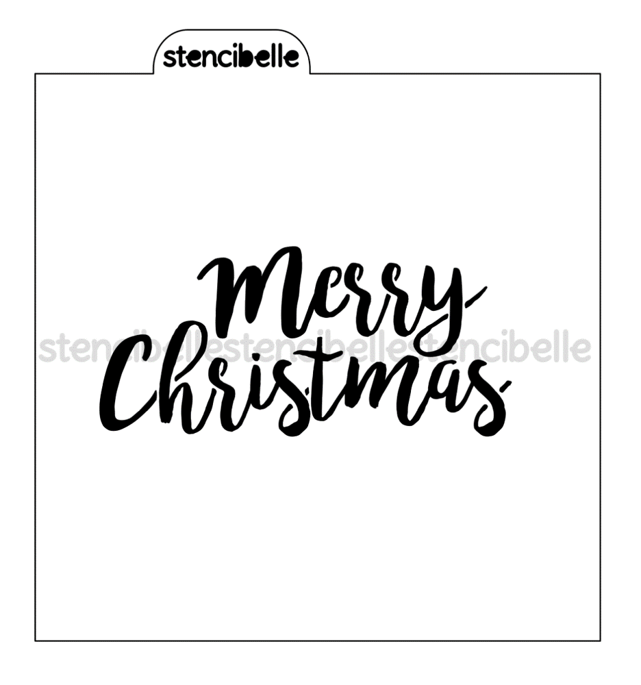 Merry Christmas Stencil - Now in 3 sizes!