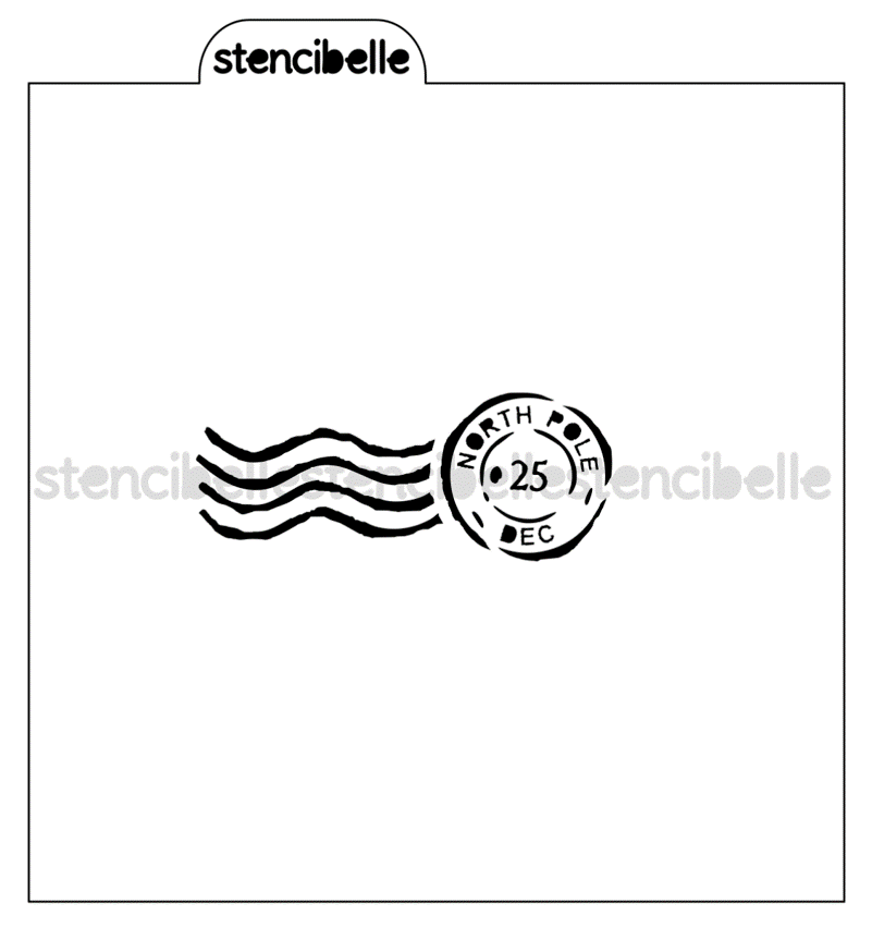 North Pole Postmark Stencil