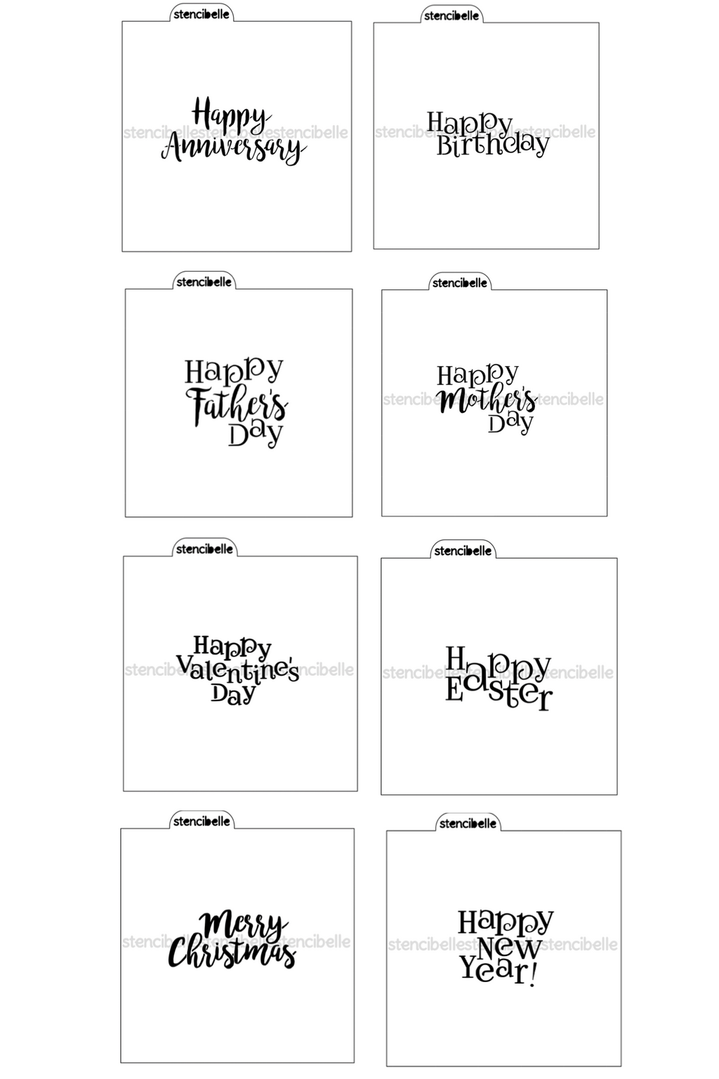 Occasions Typography 8 Pack