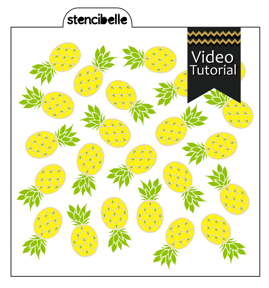 Pineapples 3 piece Stencil Set