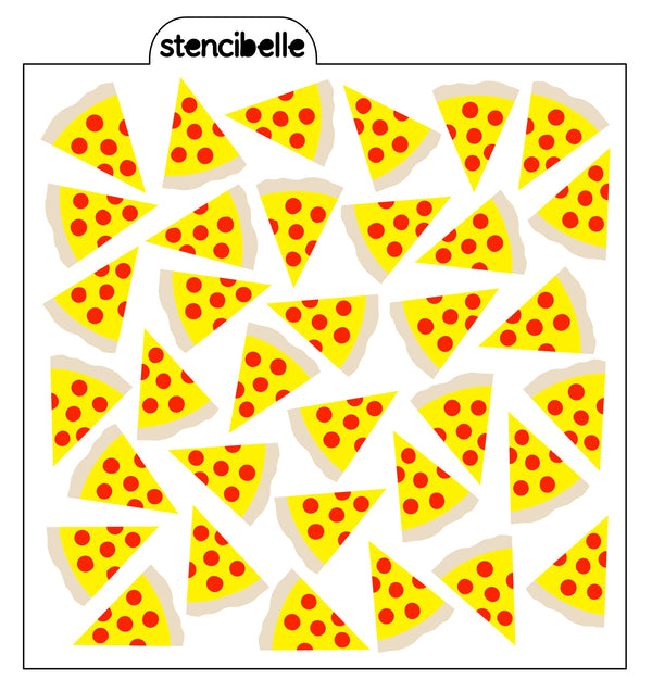 Pizza 3 piece Stencil Set