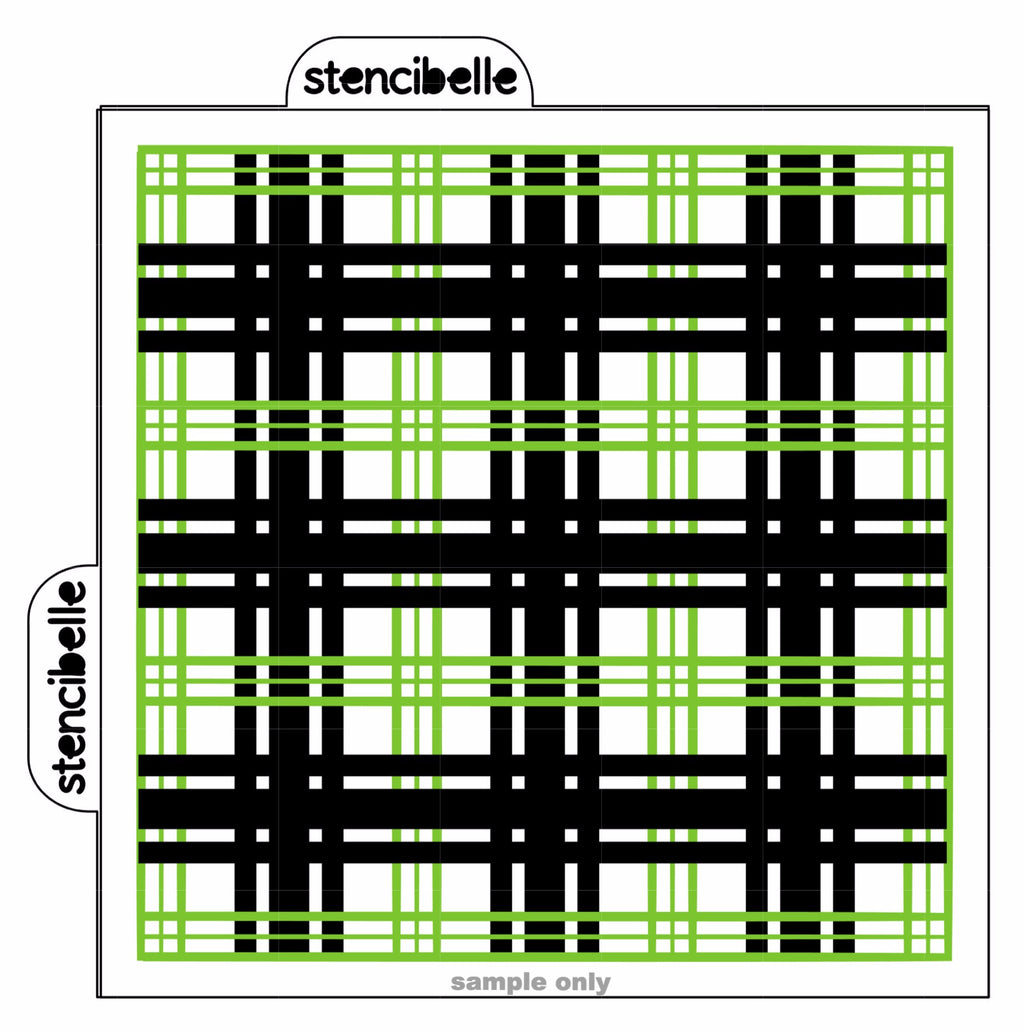 Dublin Plaid - 2 piece Stencil Set