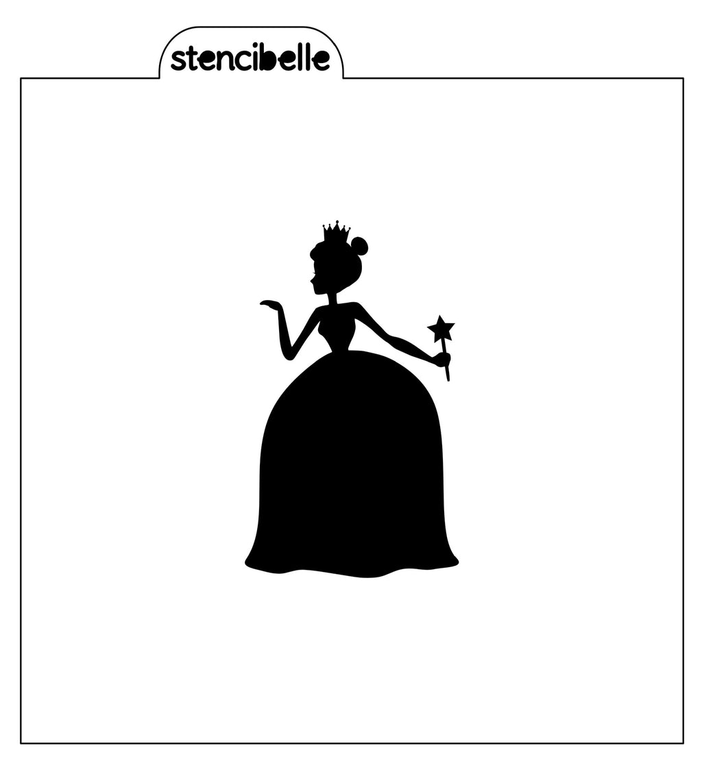 Magical Princess Silhouette Stencil - 2 sizes available