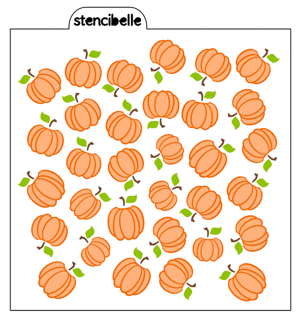 Apple / Peach / Pear / Grapes / Pumpkin Stencils  - with Coordinating Leaves & Stems
