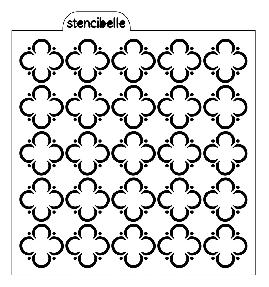 Quatreflower Stencil - 2 designs