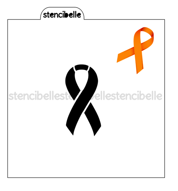 Awareness Ribbon Stencil