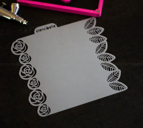Rose Garden Double-Ended Stencil
