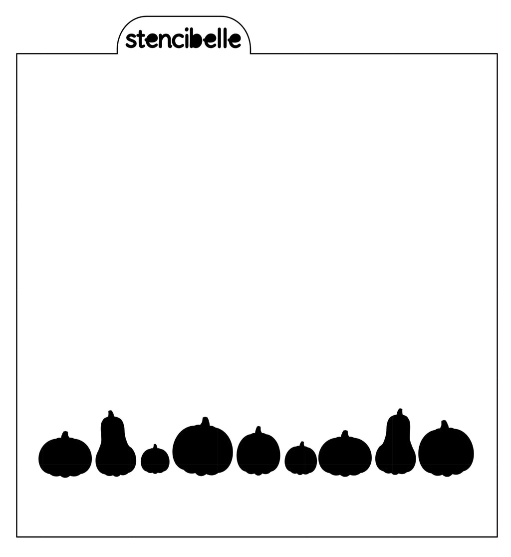 Row of Pumpkins Stencil