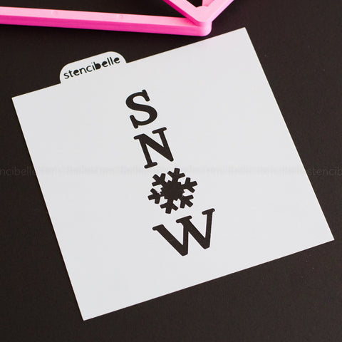 Snowflake Cookie Stick Collection - Snow Stencil