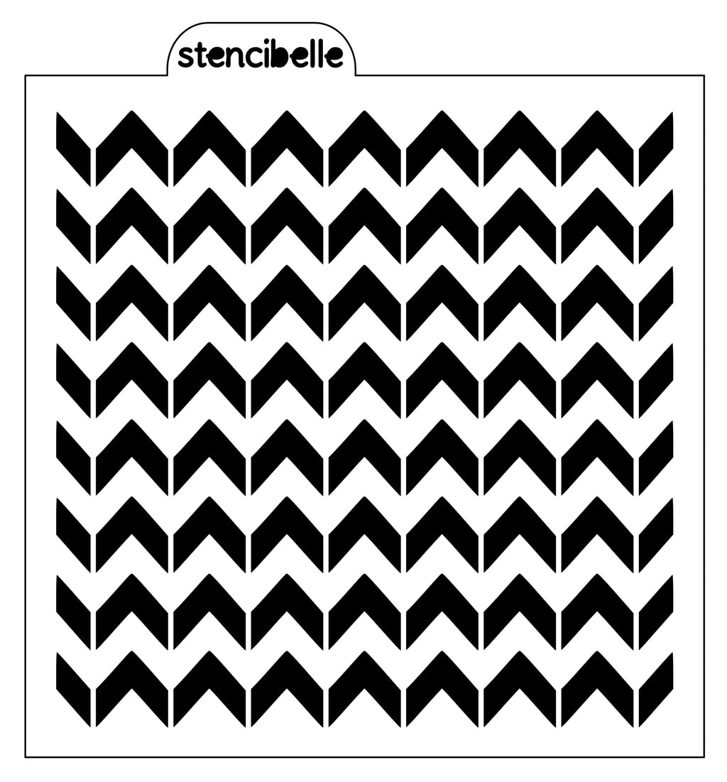 Split Chevron Stencil