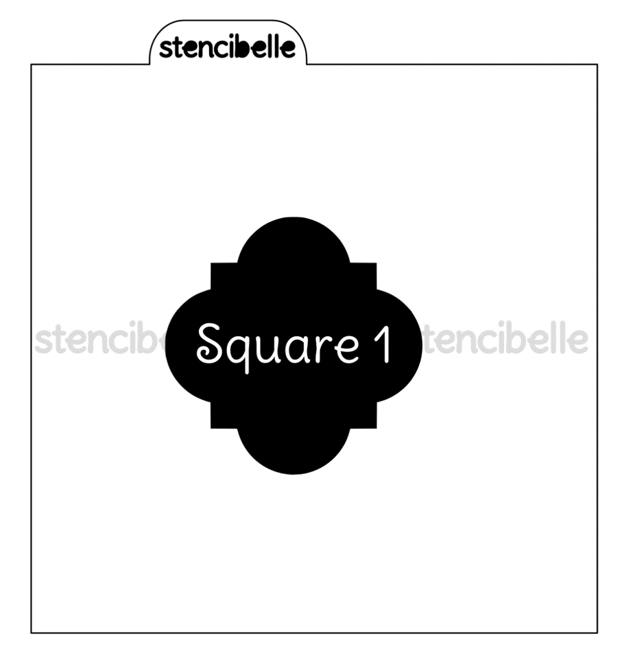 Stenci-Blockers - Plaque Shapes - Square Set