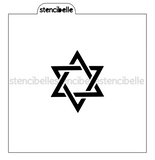Star of David Stencil - 2 sizes available