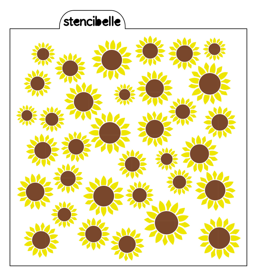 Sunflowers Stencil Set + Coordinating Leaves