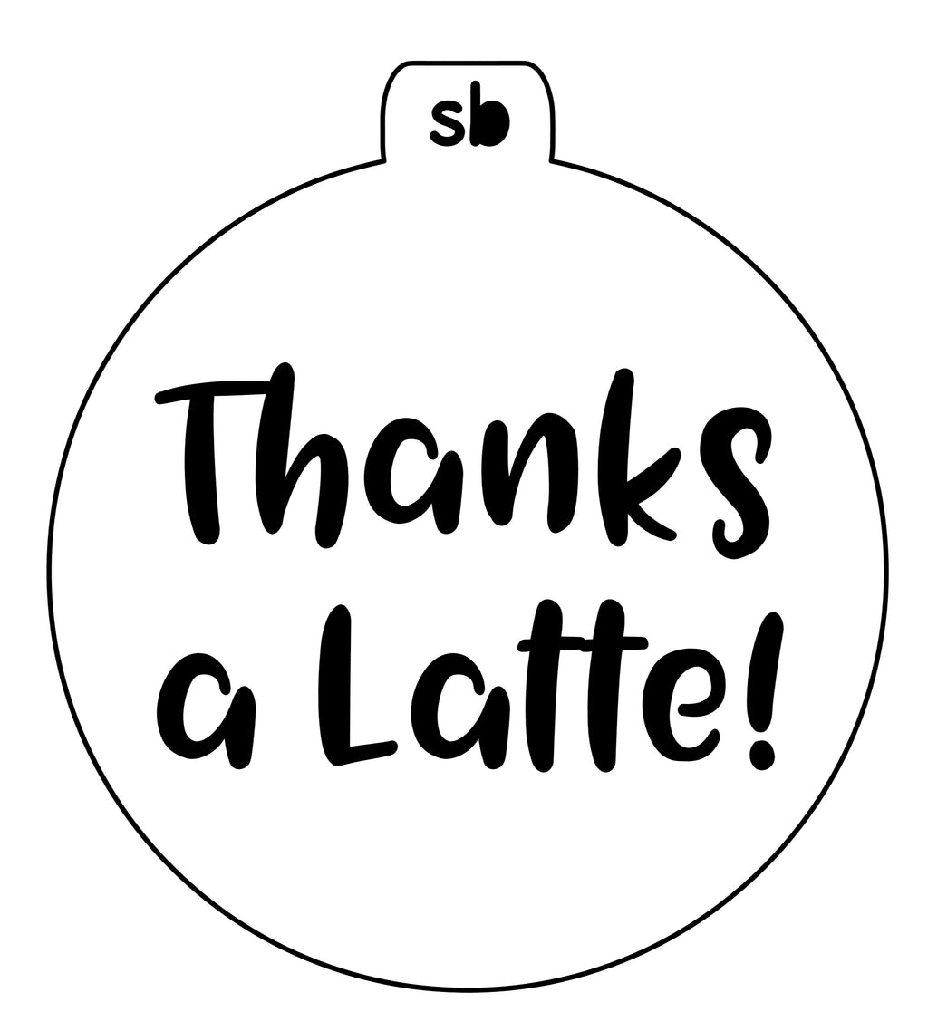 Thanks a Latte! Mini Stencil