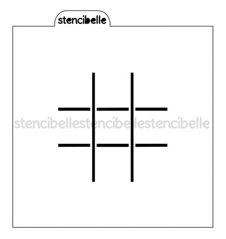 Tic Tac Toe Stencil - 4 Sizes available