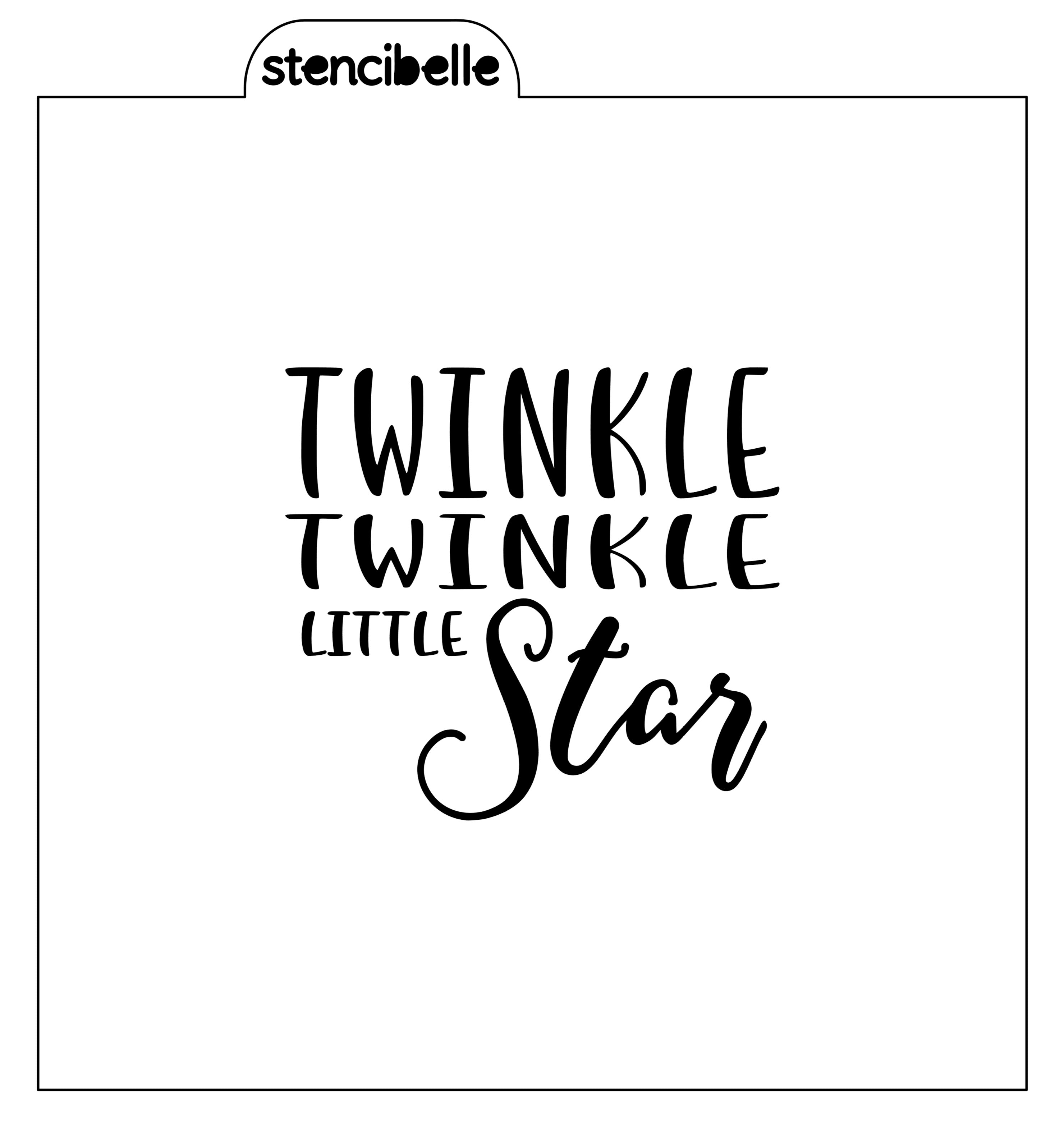 cf64a8d09 ... Twinkle Twinkle Little Star Stencil - Words - Available in 2 sizes