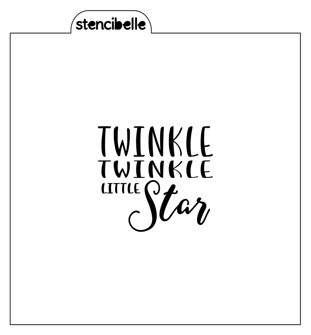Twinkle Twinkle Little Star Stencil - Words - Available in 2 sizes