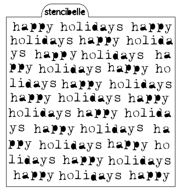 Vintage Typewriter - Happy Holidays