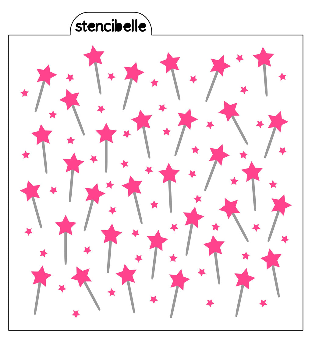 Magical Princess Wands 2 piece Stencil Set