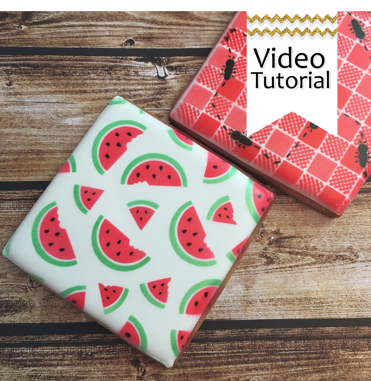 Watermelon 3 piece Stencil Set