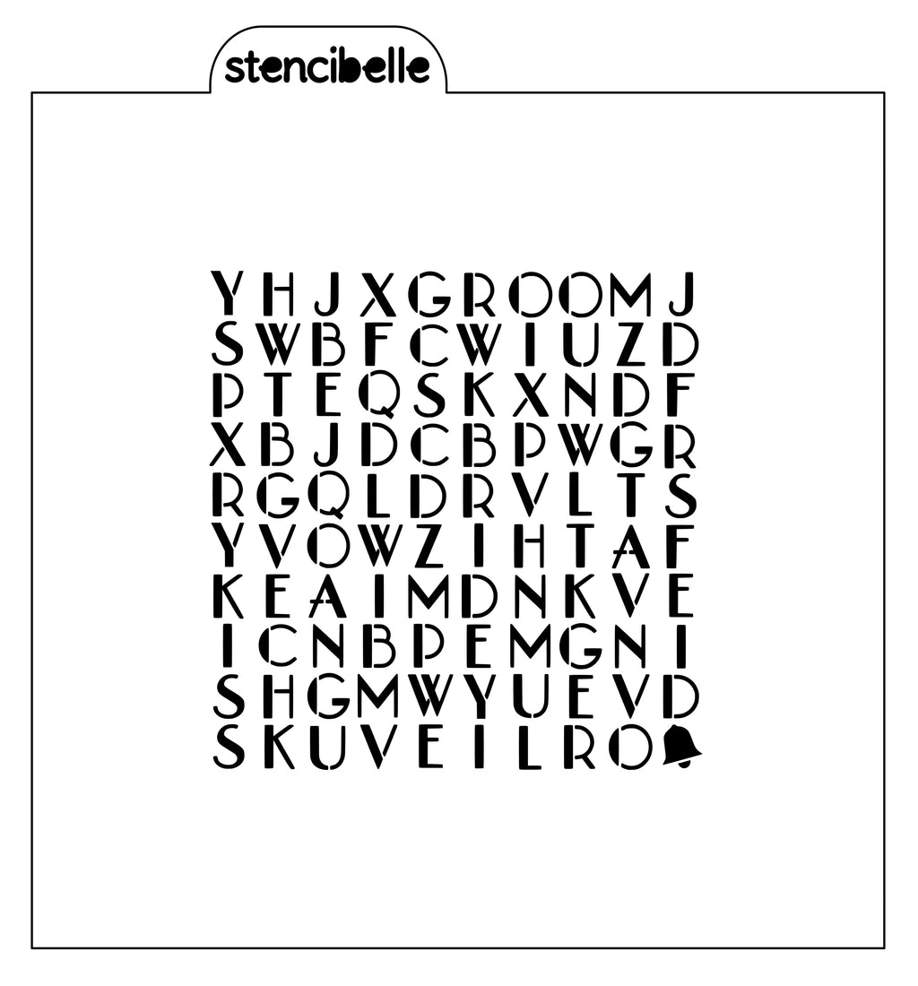 Wedding Word Search Stencil
