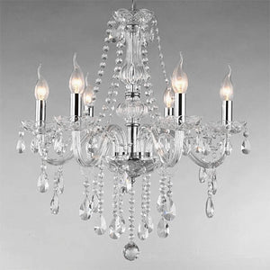 Chandelier Clear Silver 6 heads