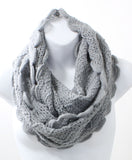 Scallop Edge Winter Infinity Scarf - Epethiya