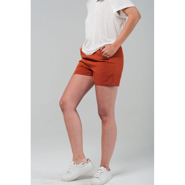 High waist orange shorts - Epethiya