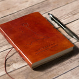 Pisces Zodiac Handmade Leather Journal - Epethiya