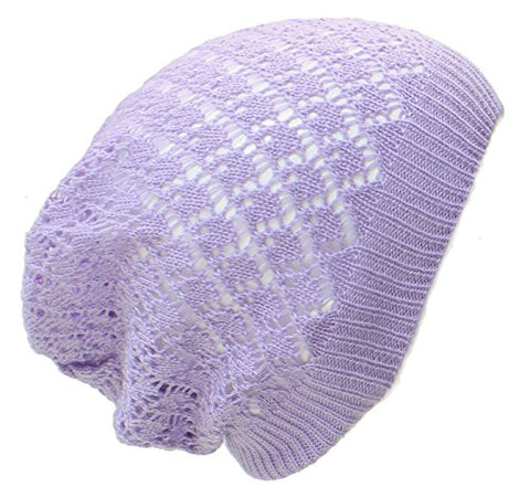 Diamond Crochet Lightweight Beanie Hat
