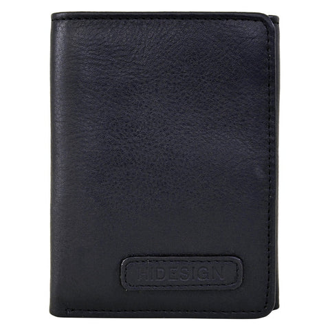 Hidesign Charles Classic Trifold Leather Wallet with ID Window - Epethiya
