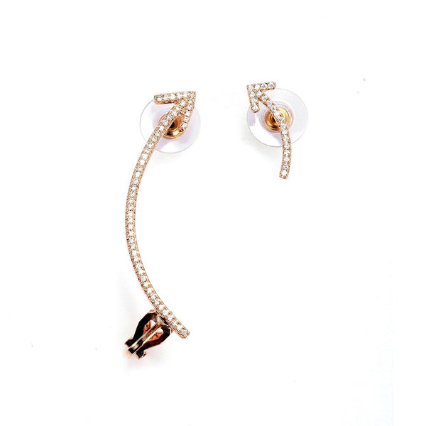 Up or Down Elite Cz Cuff Earrings - Epethiya
