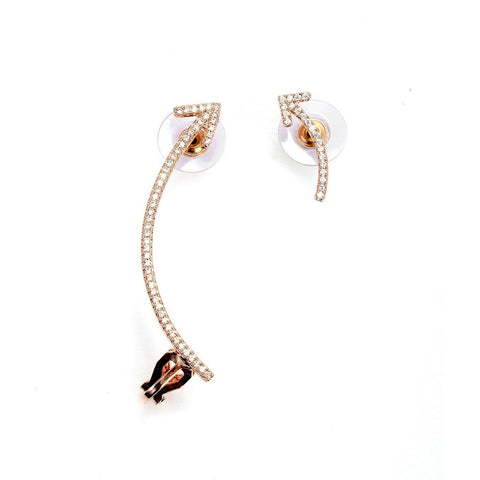 Up or Down Elite Cz Cuff Earrings