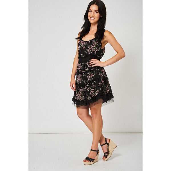 Floral Pattern Sleeveless Dress Ex-branded - Epethiya