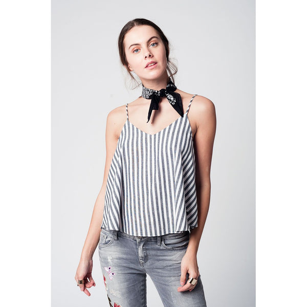 Black striped cami top - Epethiya