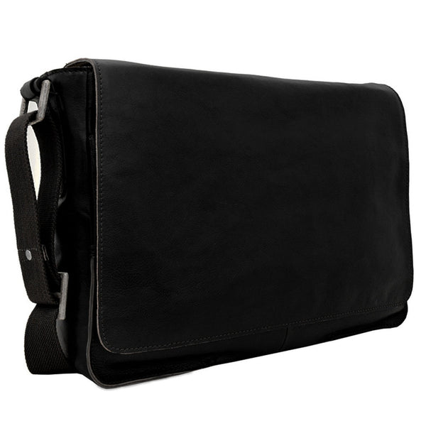 Hidesign Fred Leather Business Laptop Messenger Cross Body Bag - Epethiya