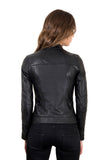 men's Leather Jacket Biker Lamb Leather Giulia - Epethiya