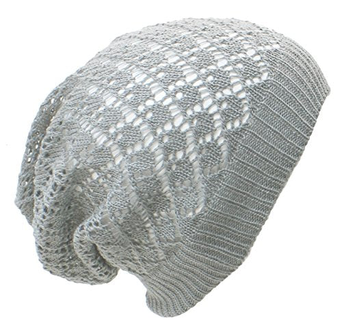 Diamond Crochet Lightweight Beanie Hat - Epethiya
