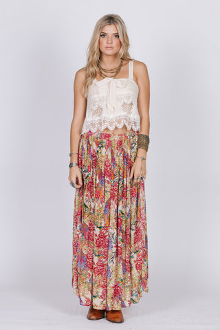 BIRDS OF PARADISE MAXI SKIRT - Epethiya