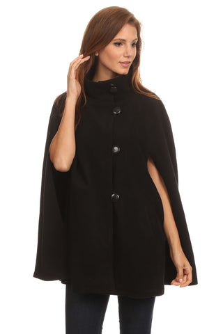 Womens Fleece Cape Poncho - Epethiya