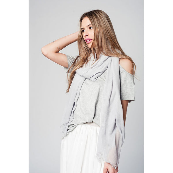 Grey cold shoulder top - Epethiya