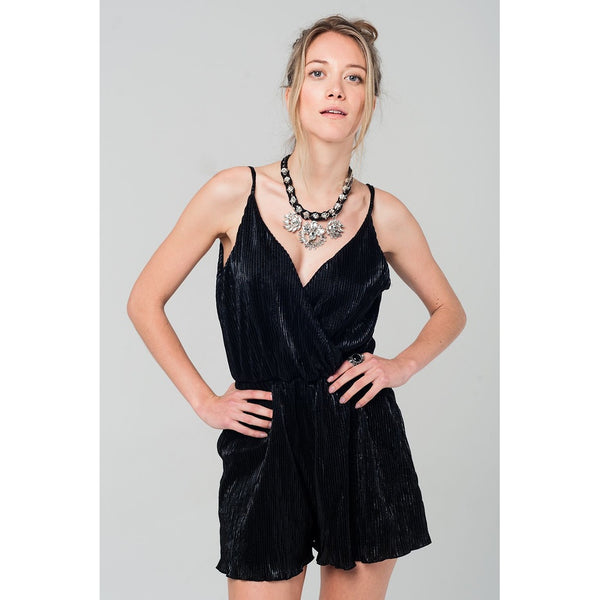 Black pleated romper - Epethiya