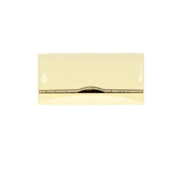 Women's Wallet Clutch Gold Accented Flap Wallet - Epethiya