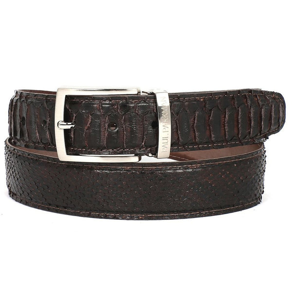 PAUL PARKMAN Men's Brown Genuine Python (snakeskin) Belt (ID#B03-BRW) - Epethiya