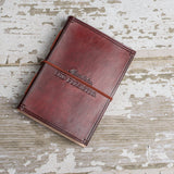 """She Persisted"" Handmade Leather Journal - Epethiya"
