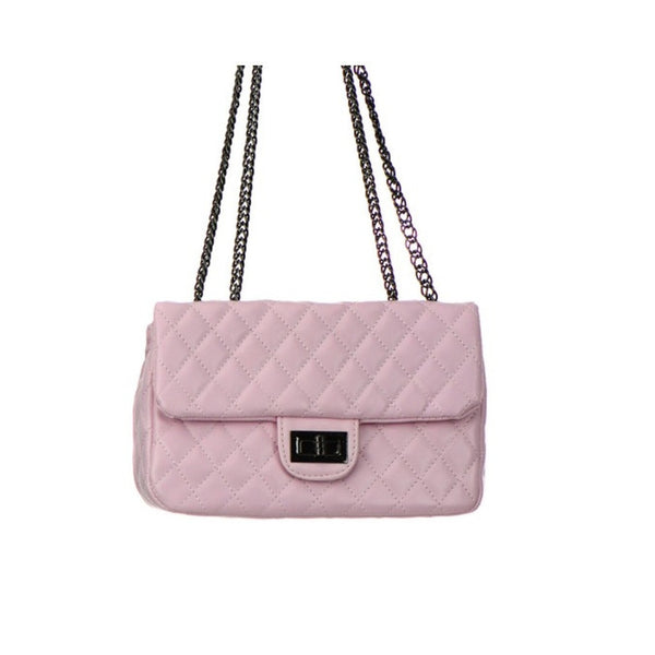 Women's Handbag Leather Diamond Stitch