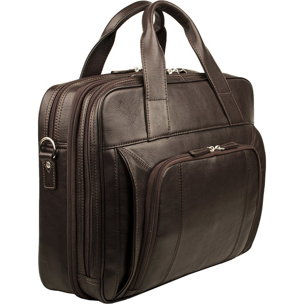 "Hidesign Aldous Ziptop 15"" Laptop Compatible Leather Work Bag - Epethiya"