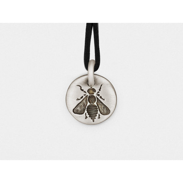 Bee Charm Pendant in Sterling Silver - Epethiya