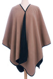 Womens Reversible Fleece Poncho - Epethiya